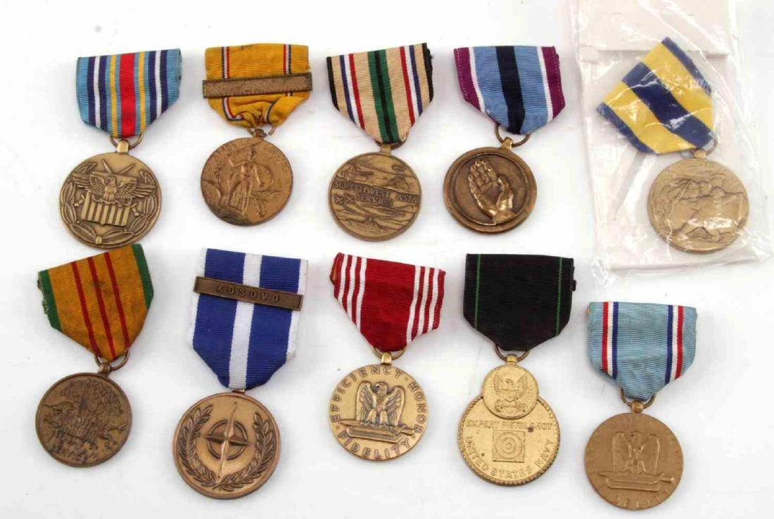 LOT OF MILITARY RIBBONS WWII VIETNAM TO PRESENT