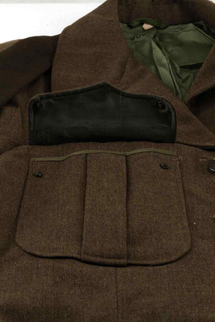 WWII US ARMY UNIFORM COAT SIDE CAP & IKE JACKET LO - 10