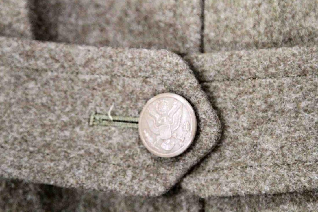 WWII US ARMY UNIFORM COAT SIDE CAP & IKE JACKET LO - 4