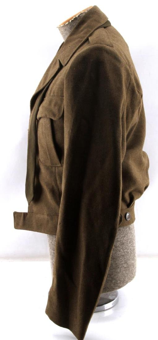 WWII US ARMY UNIFORM COAT SIDE CAP & IKE JACKET LO - 7