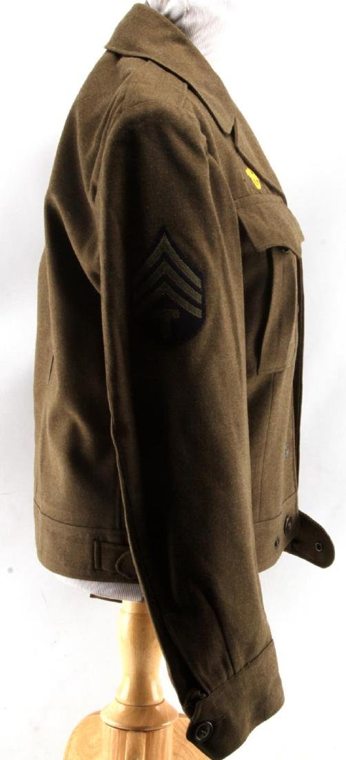 WWII US AMERICAN ARMY JACKET SIDE CAP & HAT LOT - 2
