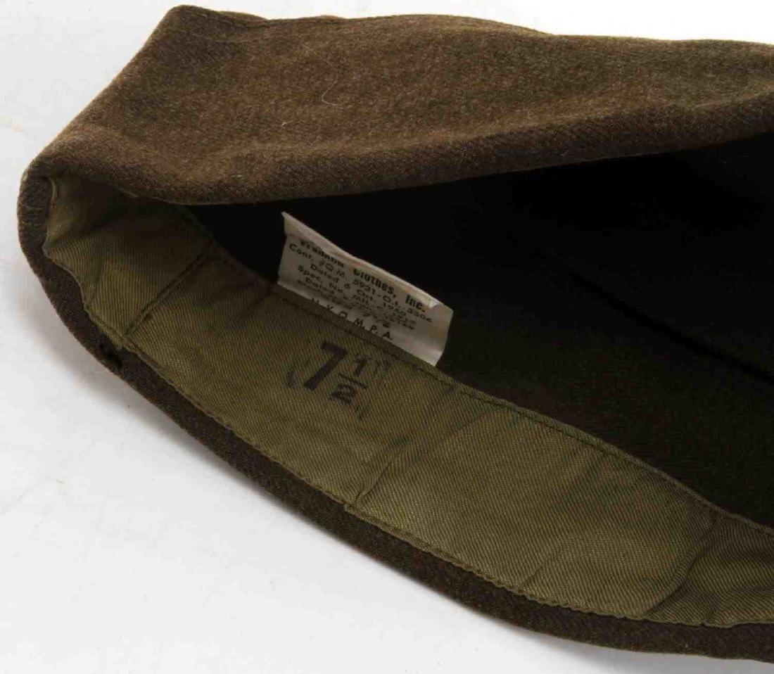 WWII US AMERICAN ARMY JACKET SIDE CAP & HAT LOT - 8