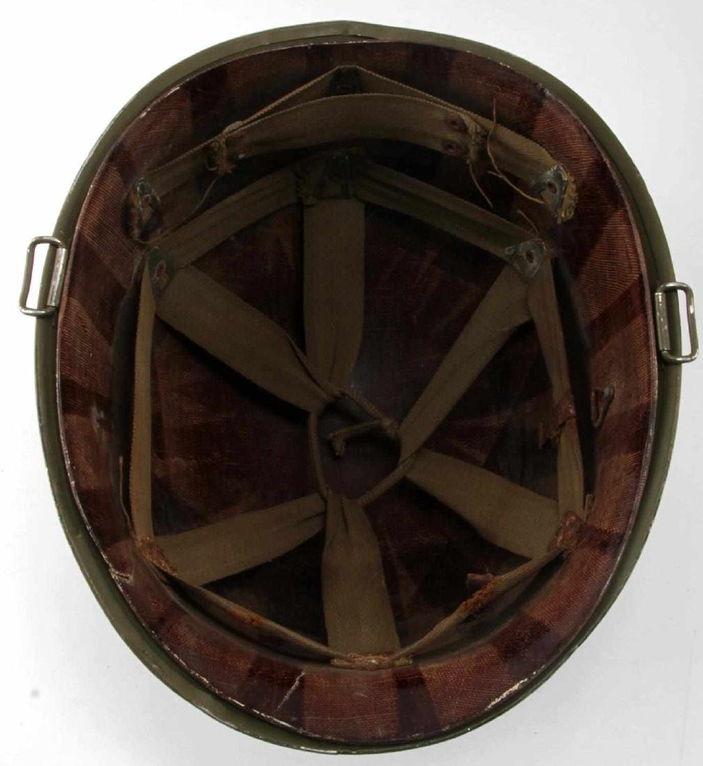 US WWII M1 SWIVEL BALE HELMET WITH ROTC LINER - 7