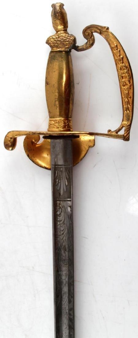 BRASS HILT SMALL FRATERNAL SWORD - 6