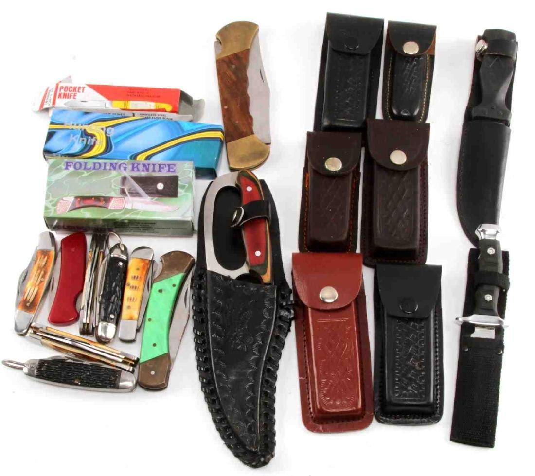 LARGE POCKET KNIFE LOT OF 20 BIG VARIETY