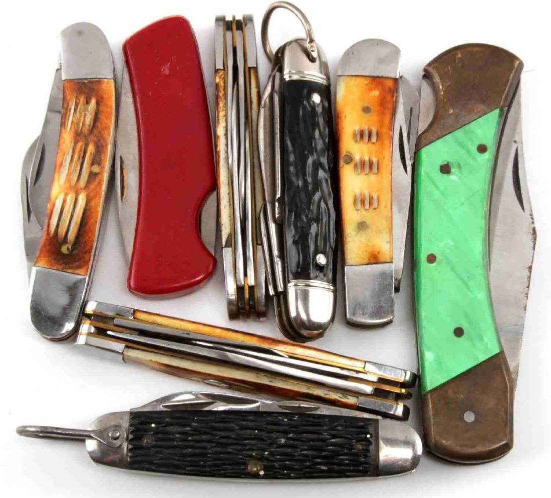 LARGE POCKET KNIFE LOT OF 20 BIG VARIETY - 2
