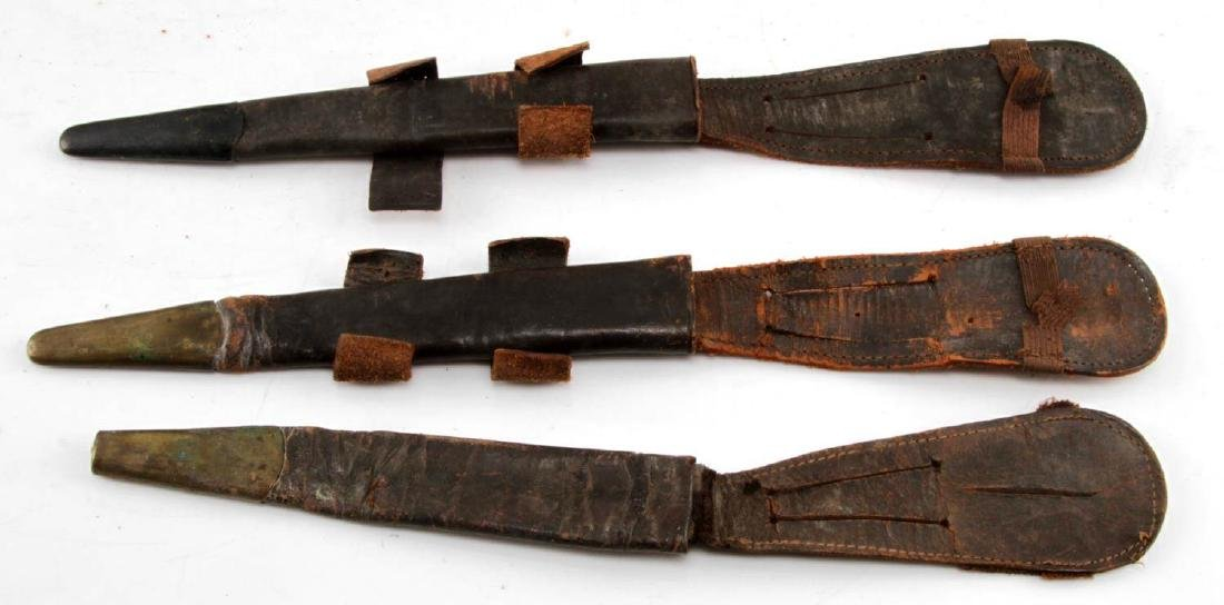 25 BRITISH WWII FAIRBAIRN SYKES LEATHER SHEATHS - 2