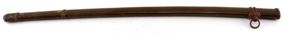 WWII JAPANESE SWORD OLIVE NCO SCABBARD SAYA - 4