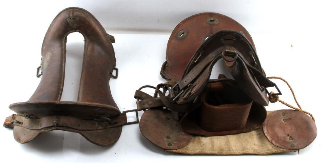 2 WWI MCCLELLAN SADDLES 1904 11 & 11 1/2 INCH