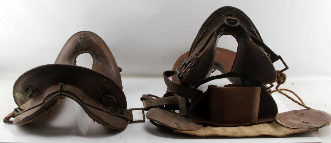 2 WWI MCCLELLAN SADDLES 1904 11 & 11 1/2 INCH - 2