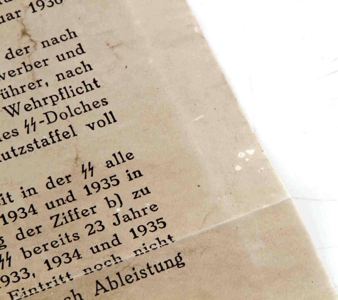 WWII THIRD REICH GERMAN SS IRON LAW LETTER HIMMLER - 4