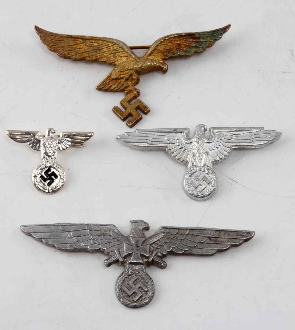 4 WWII THIRD REICH GERMAN EAGLE BADGE LOT