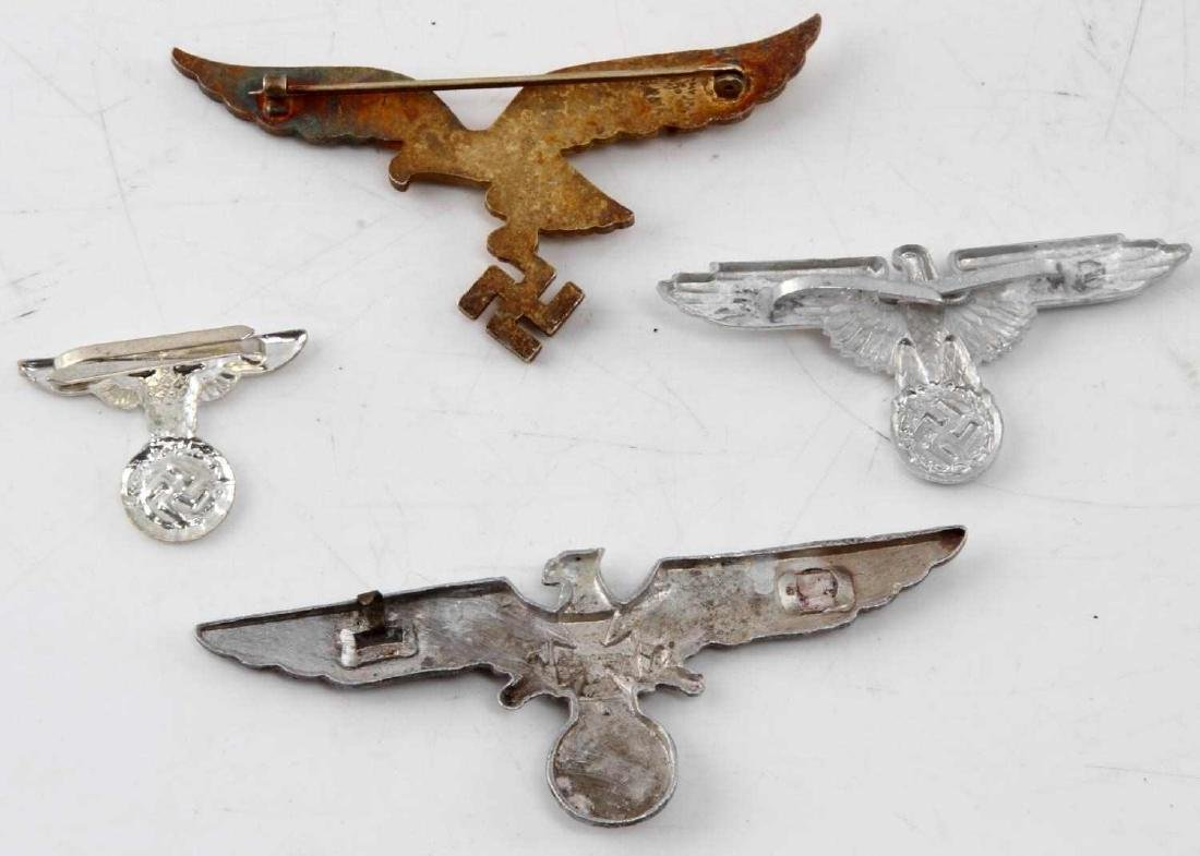 4 WWII THIRD REICH GERMAN EAGLE BADGE LOT - 2