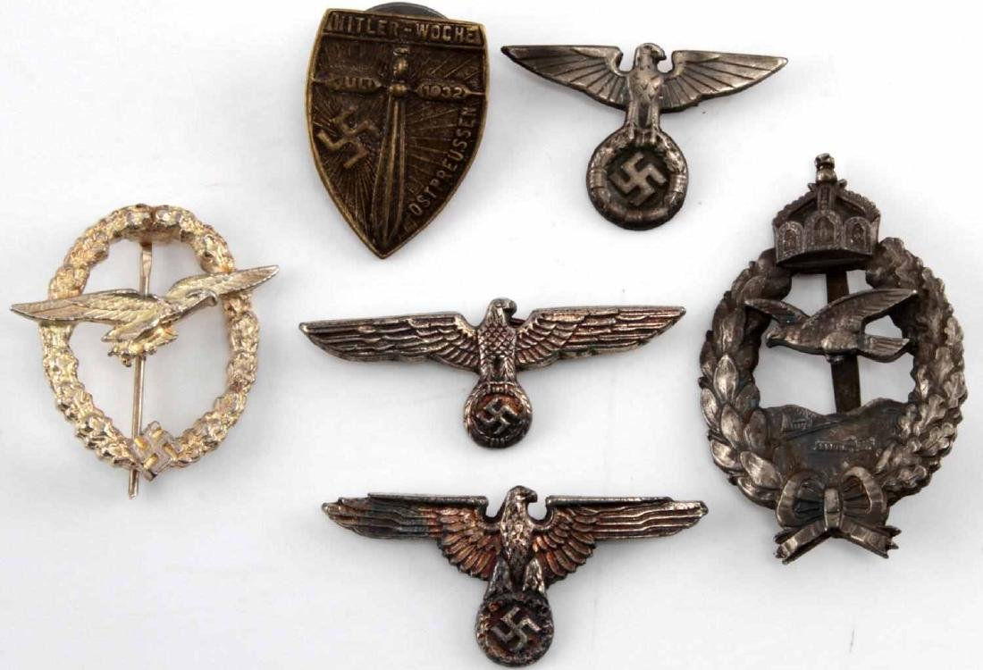 WWI IMPERIAL GERMAN WWII 3RD REICH BADGE LOT