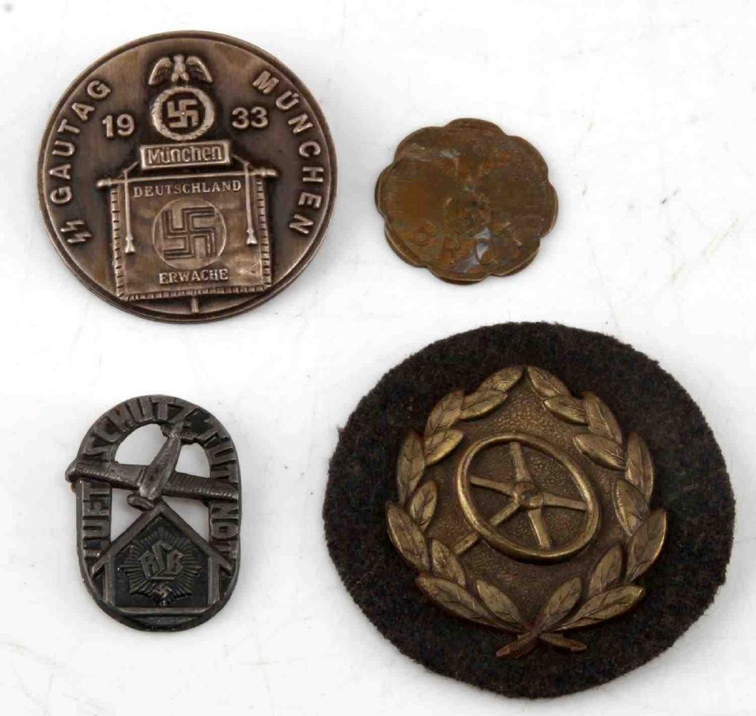 WWII GERMAN THIRD REICH SS BADGE PIN & TOKEN LOT