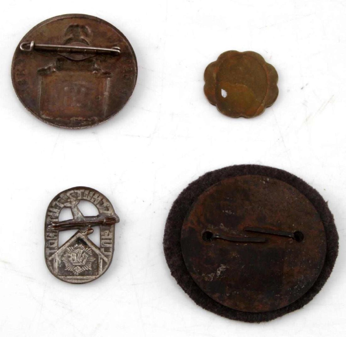 WWII GERMAN THIRD REICH SS BADGE PIN & TOKEN LOT - 2