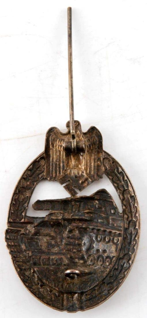 WWII GERMAN THIRD REICH PANZER ASSAULT BADGE - 3