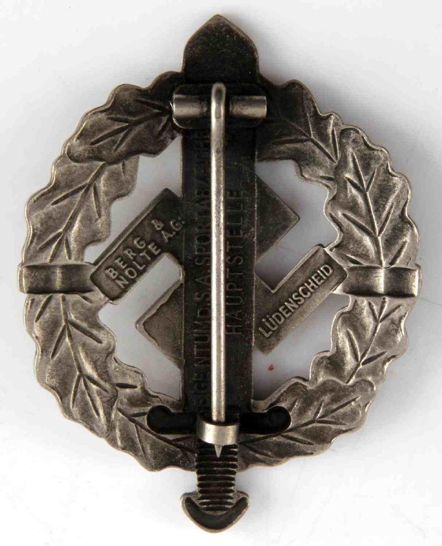 WWII GERMAN SA SPORTS BADGE & OCCUPATION MEDAL - 3