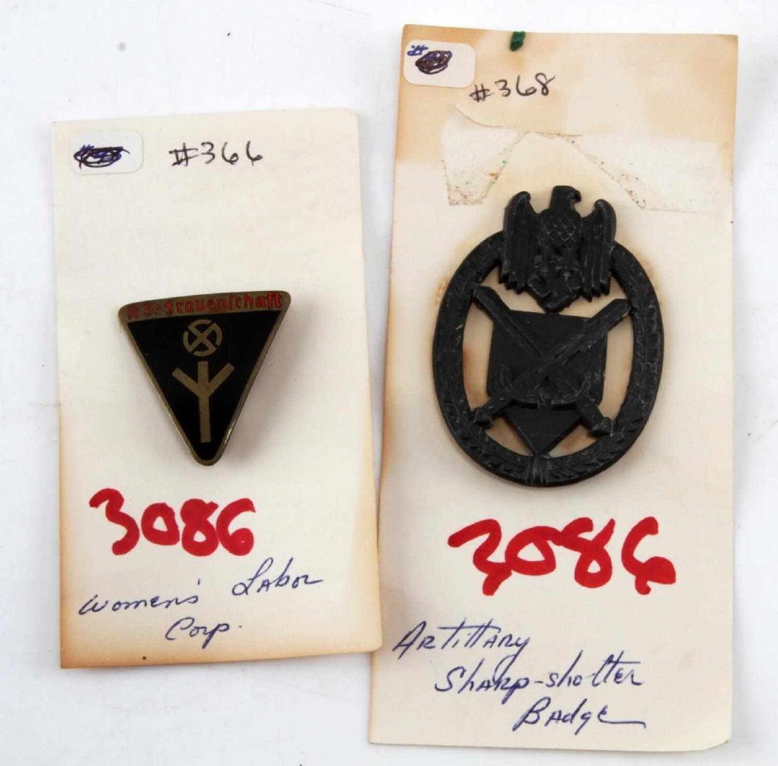 WWII THIRD REICH WOMENS LEAGUE PIN & MARKSMAN PIN
