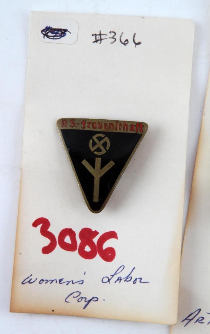 WWII THIRD REICH WOMENS LEAGUE PIN & MARKSMAN PIN - 3