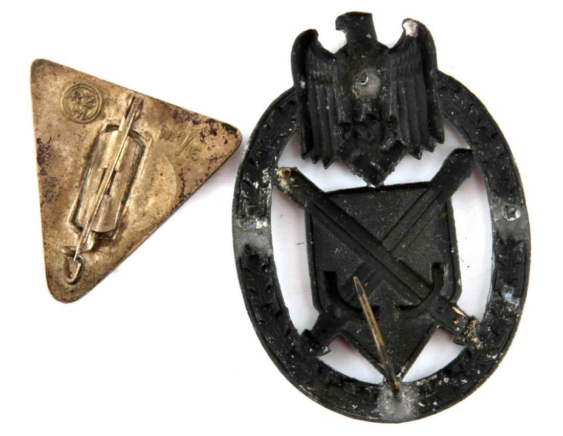 WWII THIRD REICH WOMENS LEAGUE PIN & MARKSMAN PIN - 4