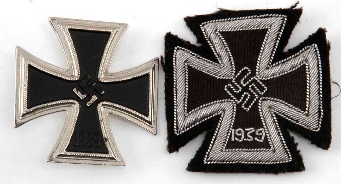 WWII THIRD REICH FIRST CLASS IRON CROSS LOT OF 2