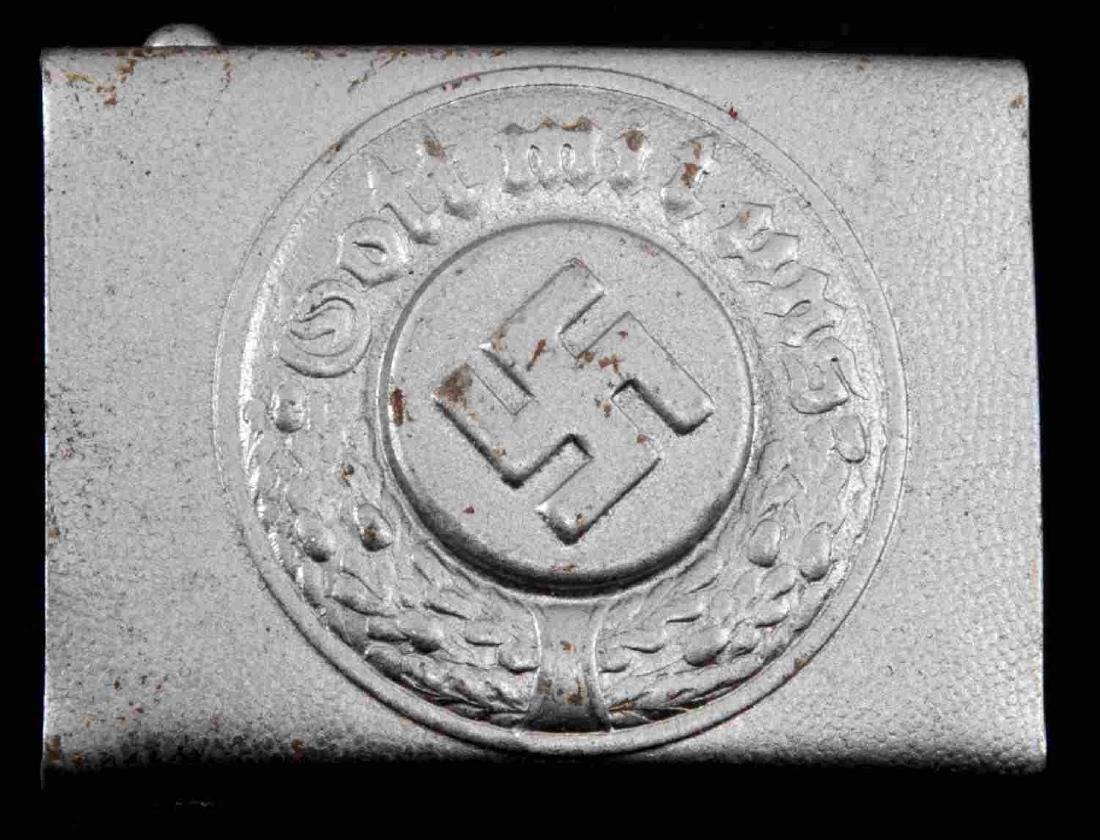 WWII GERMAN THIRD REICH POLICE EM BELT BUCKLE