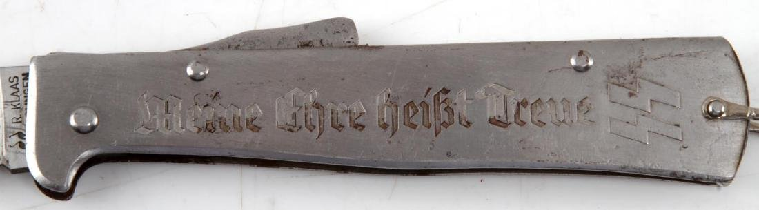 WWII GERMAN THIRD REICH SS ETCHED POCKET KNIFE - 4