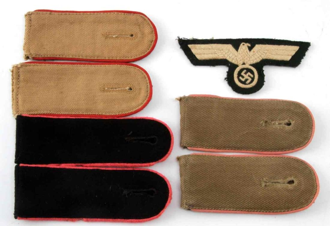 WWII THIRD REICH LOT OF SS & ARMY SHOULDER STRAPS
