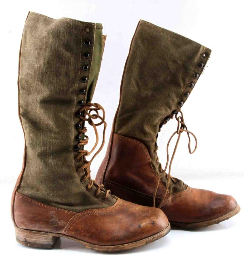 WWII THIRD REICH AFRIKA KORP TROPICAL COMBAT BOOTS - 2