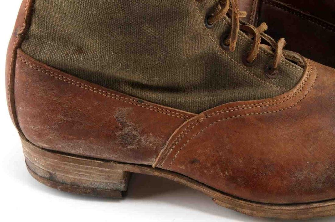 WWII THIRD REICH AFRIKA KORP TROPICAL COMBAT BOOTS - 3