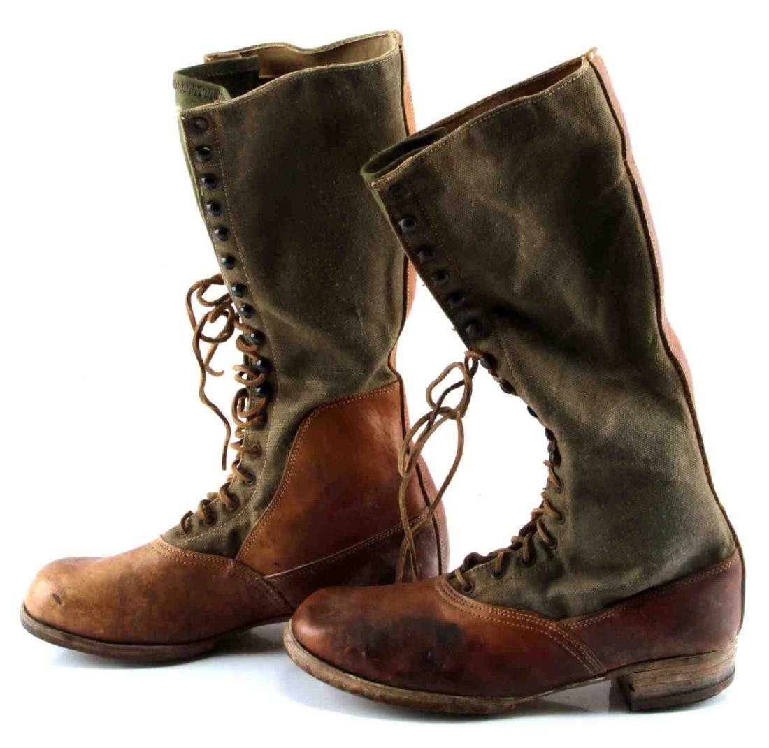 WWII THIRD REICH AFRIKA KORP TROPICAL COMBAT BOOTS - 5