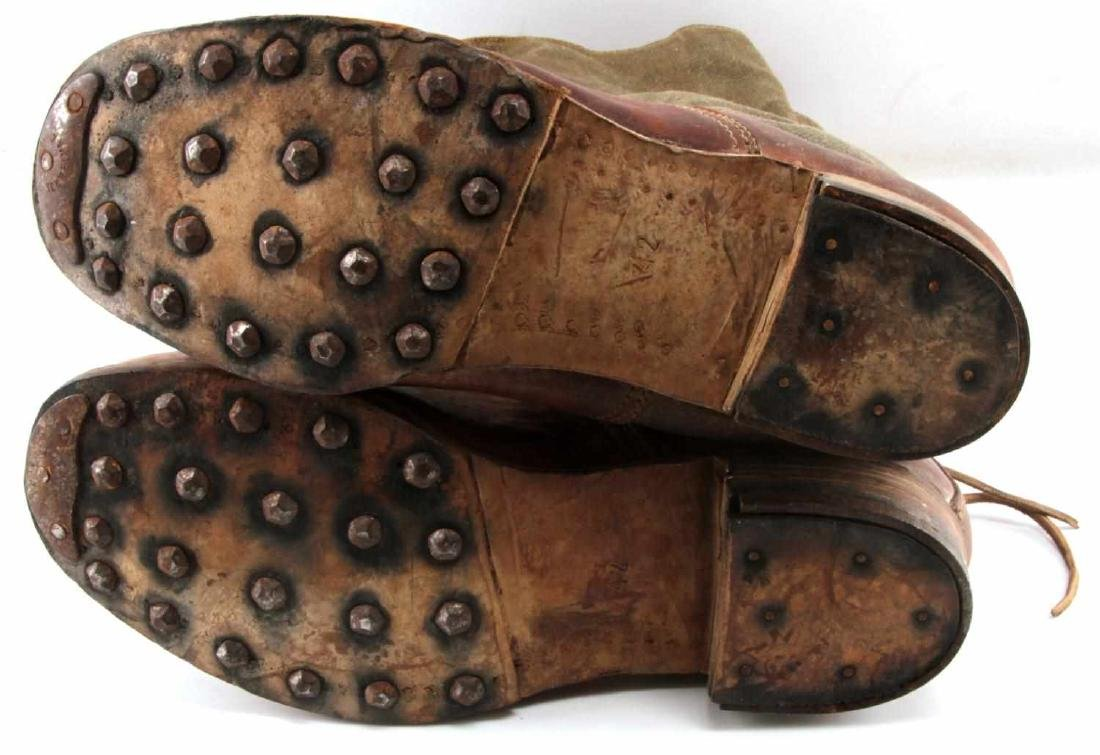 WWII THIRD REICH AFRIKA KORP TROPICAL COMBAT BOOTS - 6