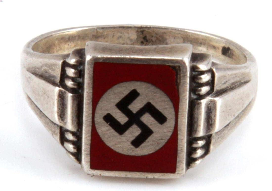GERMAN WWII THIRD REICH SILVER PARTY RING