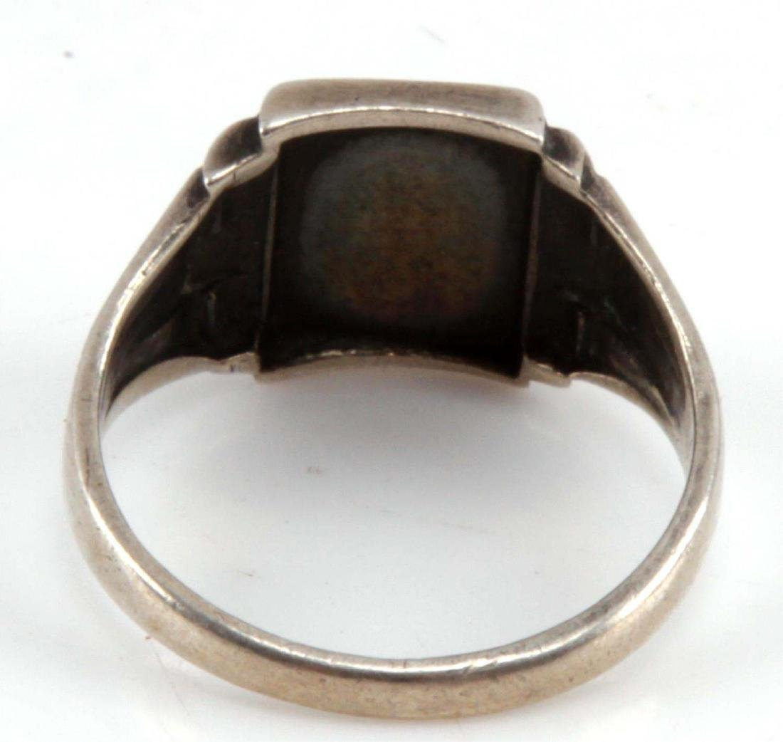 GERMAN WWII THIRD REICH SILVER PARTY RING - 3