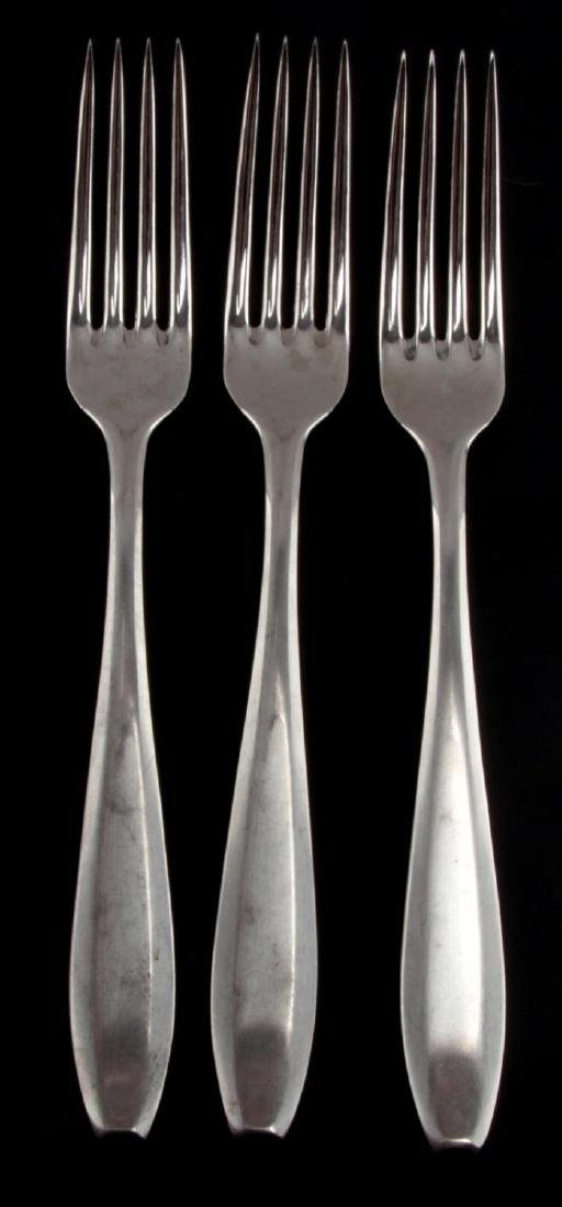 3 GERMAN WWII THIRD REICH WAFFEN SS MESS HALL FORK