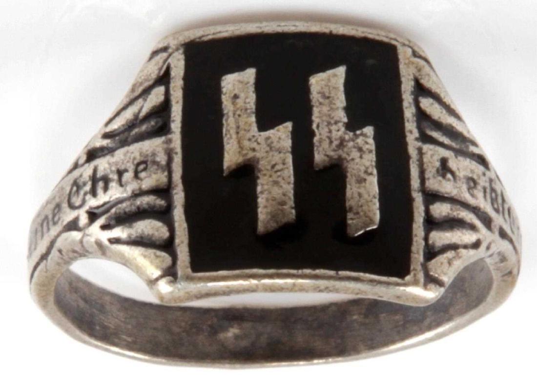 WWII GERMAN THIRD REICH SILVER WAFFEN SS RING