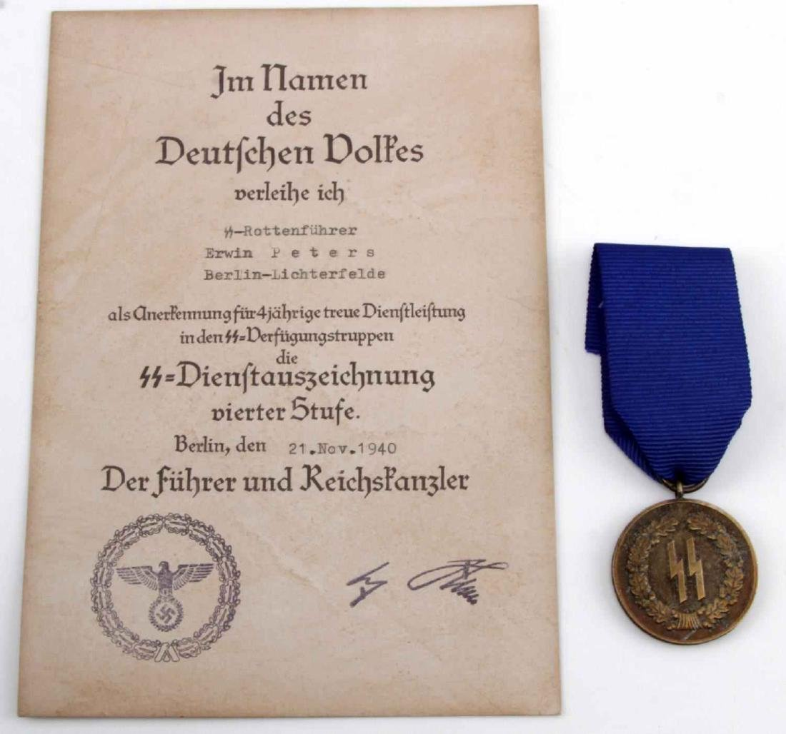 WWII GERMAN THIRD REICH SS LONG SERVICE MEDAL