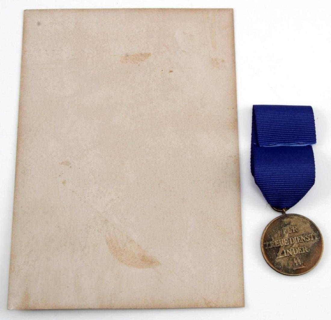 WWII GERMAN THIRD REICH SS LONG SERVICE MEDAL - 3