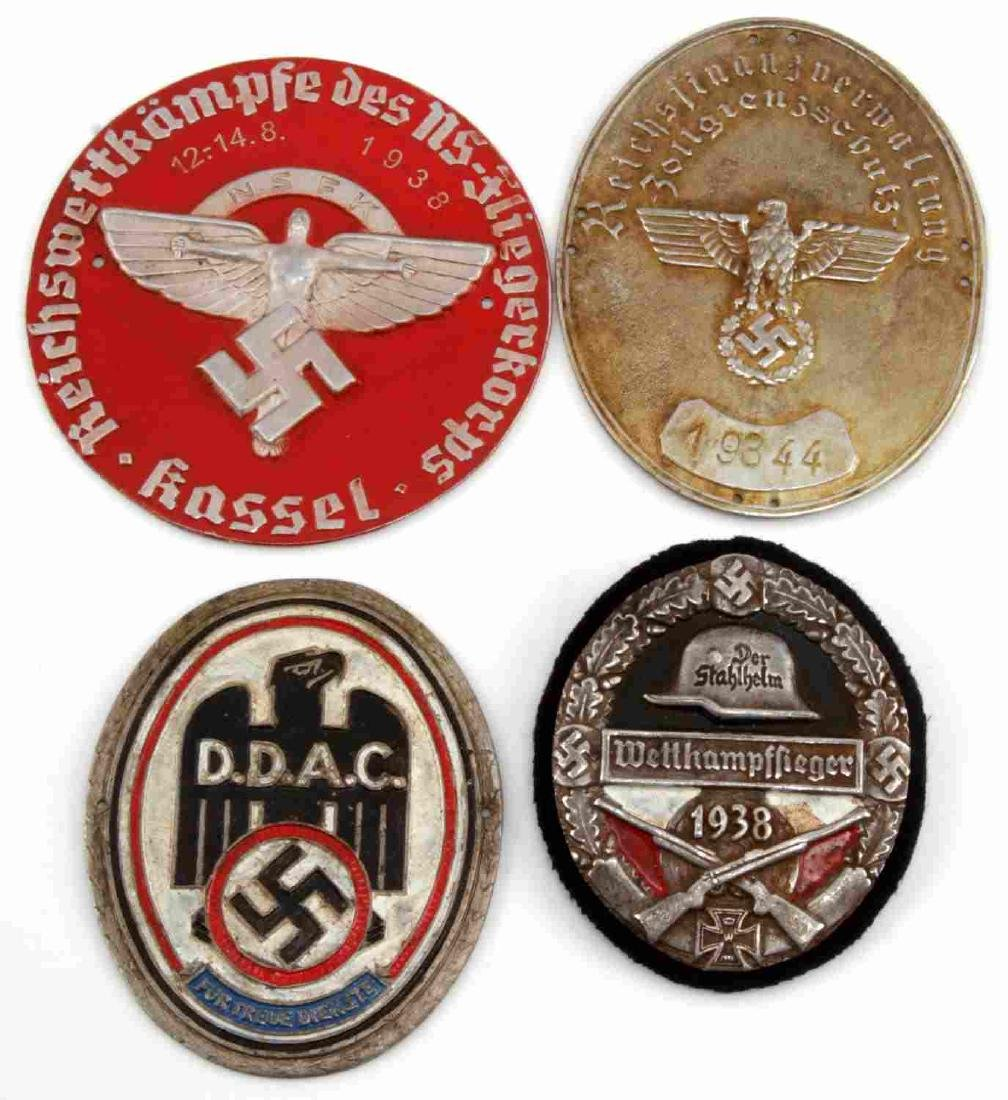 WWII GERMAN THIRD REICH PLAQUE LOT OF FOUR