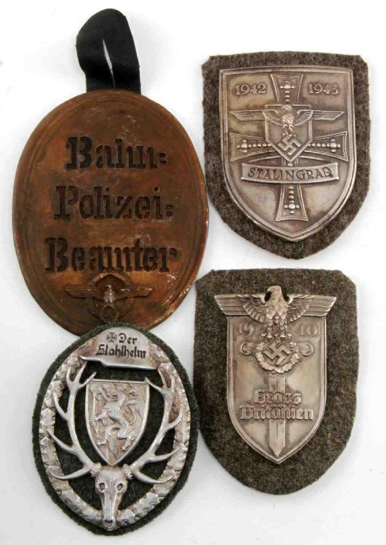 WWII GERMAN THIRD REICH LOT OF 4 PLAQUES
