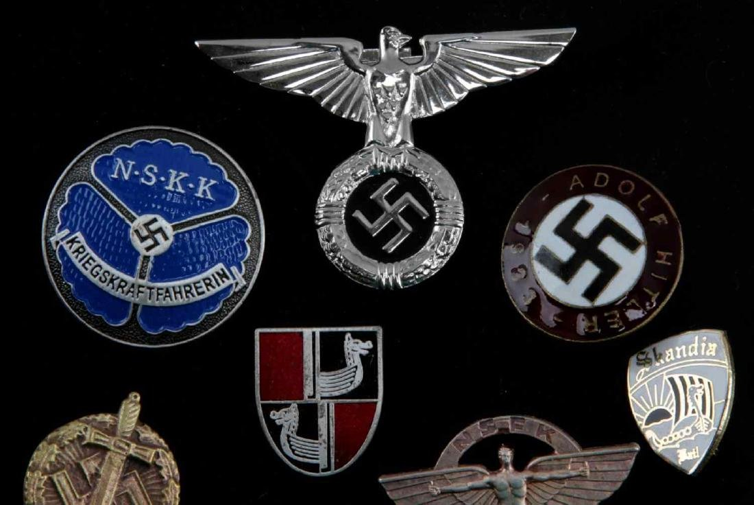 WWII GERMAN THIRD REICH LOT OF 8 PINS AND BADGES - 2