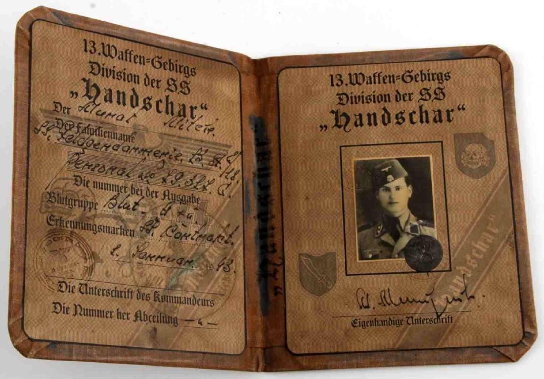 WWII GERMAN THIRD REICH HANDSCHAR DIVISION AUSWEIS