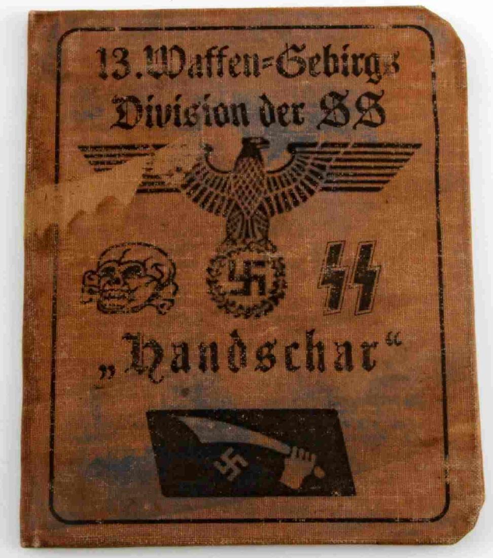 WWII GERMAN THIRD REICH HANDSCHAR DIVISION AUSWEIS - 2