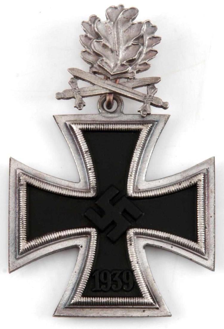 WWII GERMAN 3RD REICH IRON CROSS OAK LEAVES SWORDS
