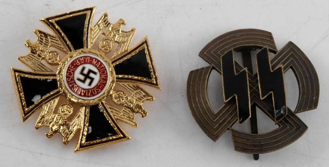 WWII GERMAN THIRD REICH SS AND NSDAP BADGE LOT