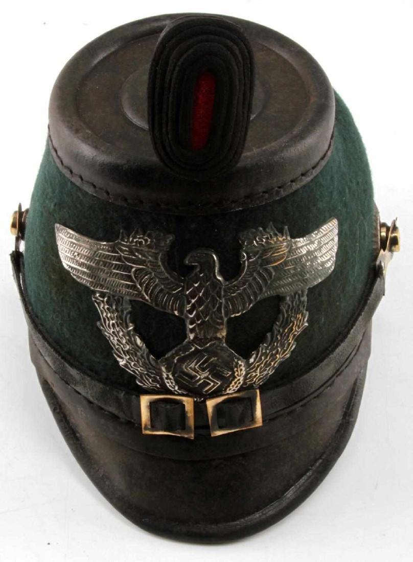 WWII GERMAN THIRD REICH 1936 POLICE SHAKO HAT