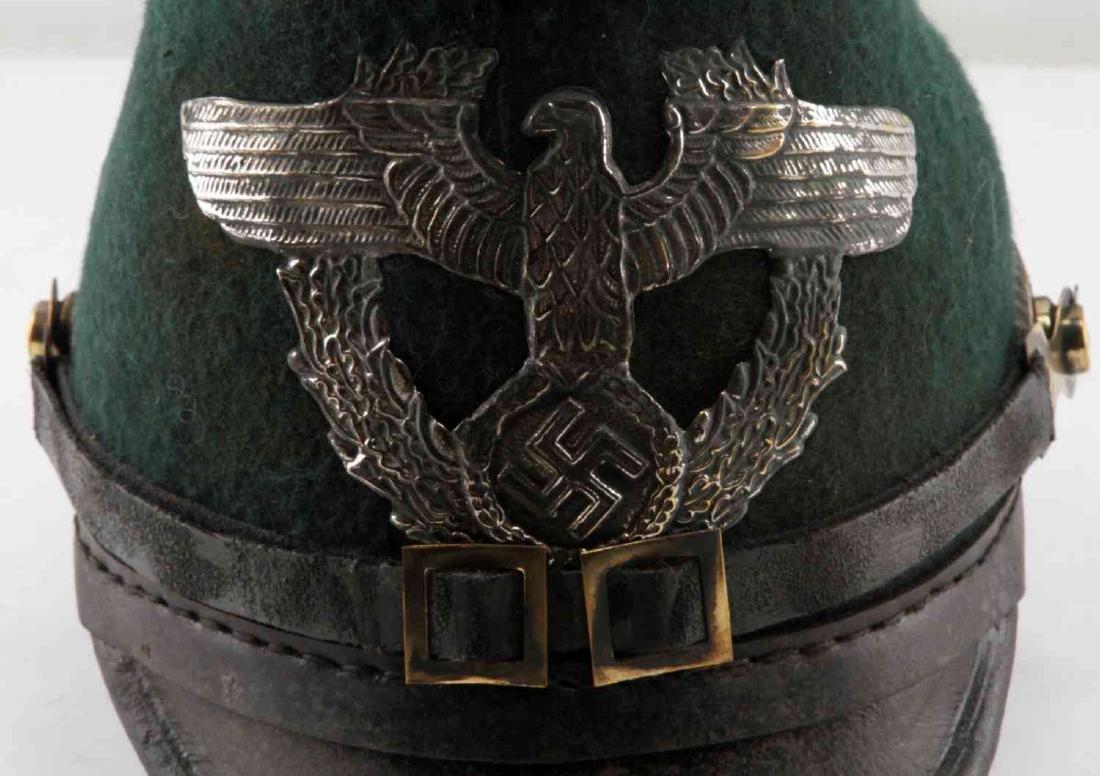 WWII GERMAN THIRD REICH 1936 POLICE SHAKO HAT - 6