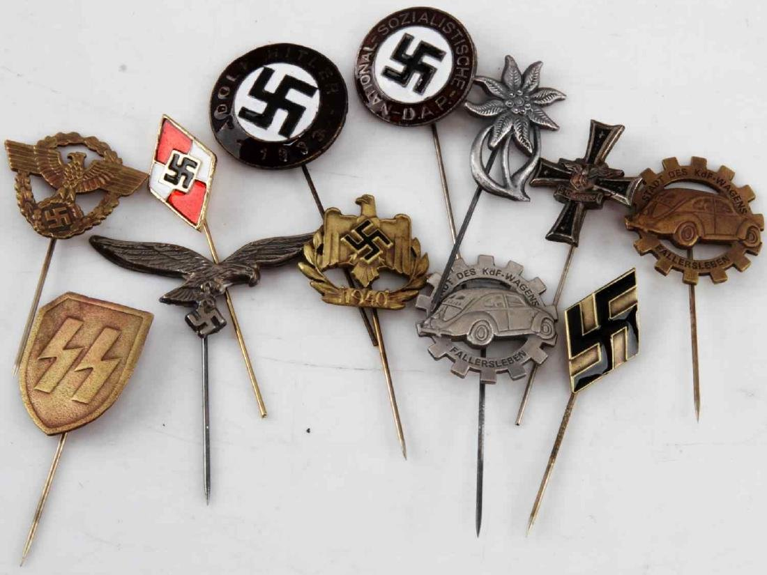 WWII GERMAN THIRD REICH STICK PIN LOT OF 12
