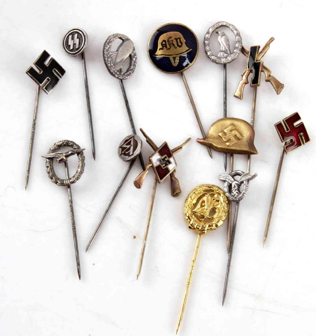 WWII GERMAN THIRD REICH STICK PIN LOT OF 13